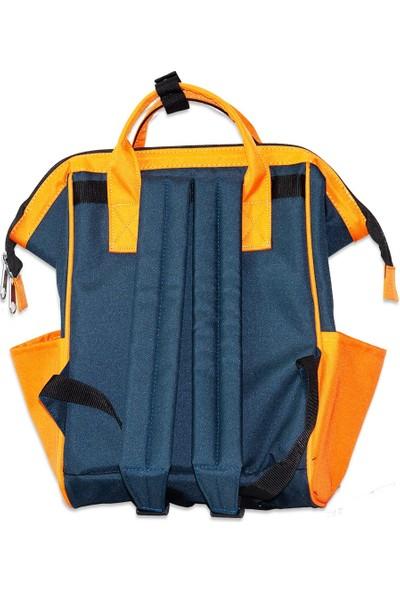 Organicraft Sırt Çantası - Country Backpack - Yellow Navyblue