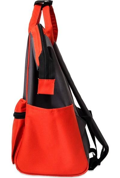 Organicraft Sırt Çantası - Country Backpack - Smoke Grey Orange