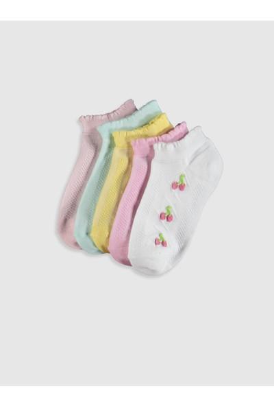 LC Waikiki Kız Çocuk 5'li Patik Çorap
