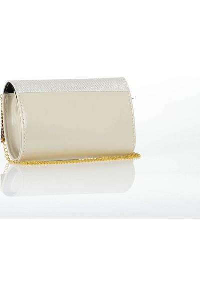 Liplipo Mıknatıslı Kapağı Oval Demir Simli Zincirli Portföy Çanta