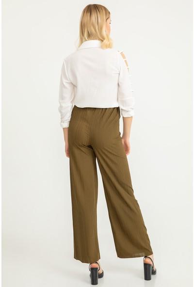 Flovsy Salaş Parlak Kaşkorse Pantolon