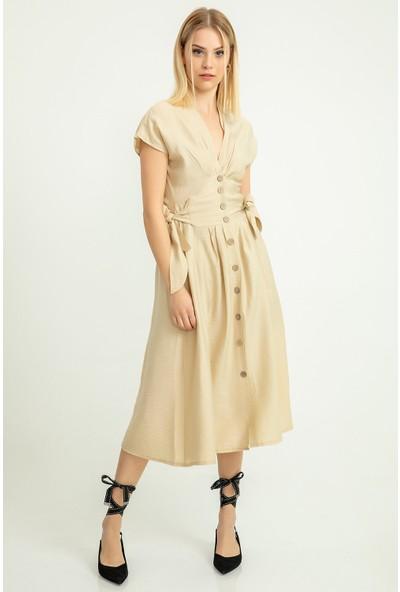 Foremia Aerobin Yanları Bağ Detay Elbise