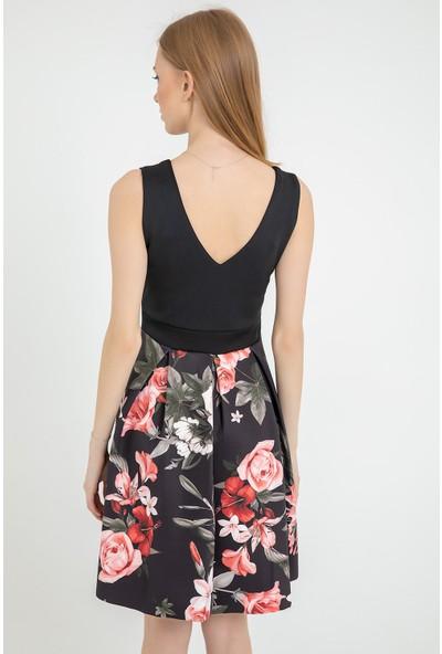 Flovsy Dalgıç Kumaş Fiyonklu Elbise 2587