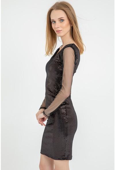 Flovsy Kadife Elbise 2773