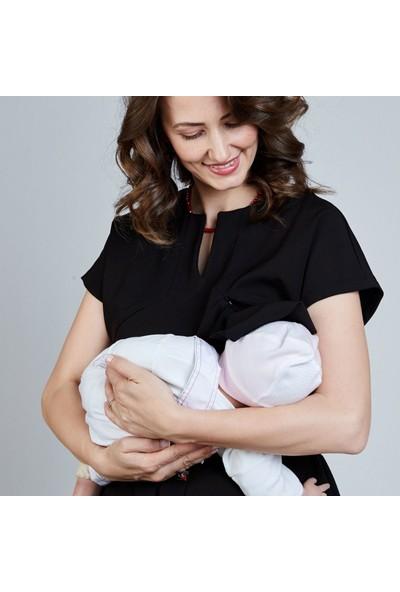 Mamma Lattes Kadın Hamile Şık Ofis Elbisesi