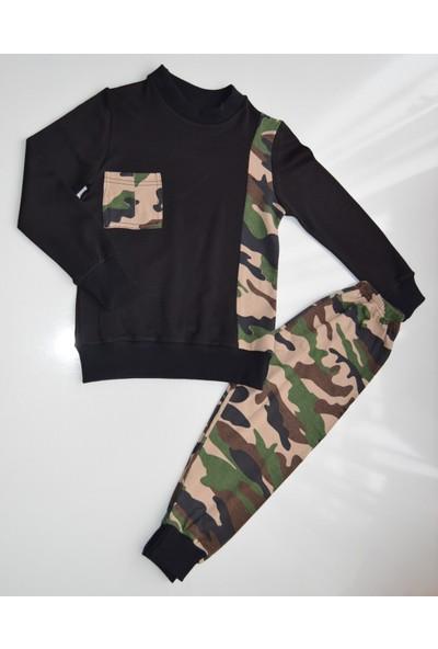 İnci Mercan Mevsimlik Askerli Pijama Takımı