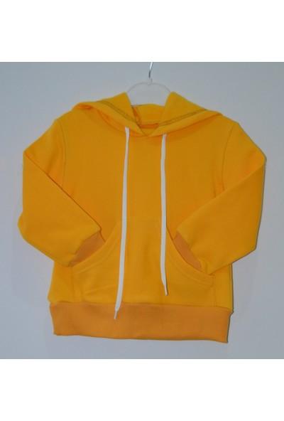 İnci Mercan Sarı Kapşonlu Sweatshirt