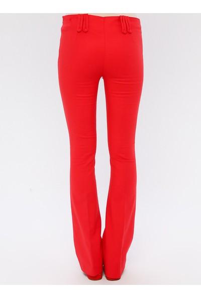 SLN İspanyol Paça Pantolon Kırmızı