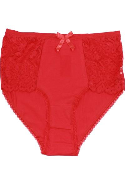 Deza 3'lü Paket Kadın Slip Külot Kırmızı XL