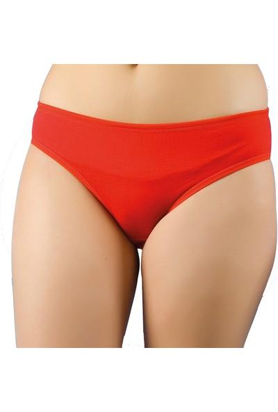 Jel 6'lı Paket Kadın Bato Slip Külot Kırmızı XL