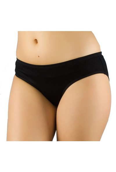 Seher 3'lü Paket Kadın Bato Slip Külot Siyah XL