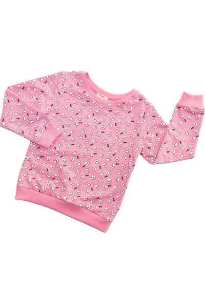 Paty Kids Kız Çocuk Sweatshirt Pembe 3 - 4 Yaş