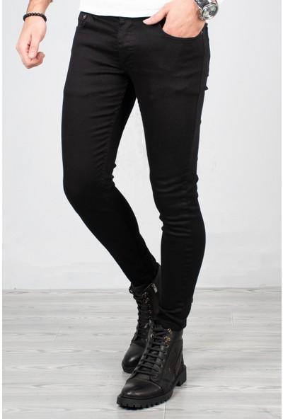 Deepsea Erkek Siyah Skinny Kesim Kot Pantolon 2004157