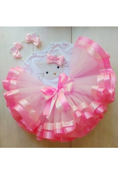 BBA 3'lü Hello Kitty Tütü Etek Kostüm Set 4 Yaş