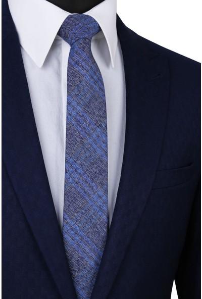 Kravatkolik Mavi Yün Kravat SK7264