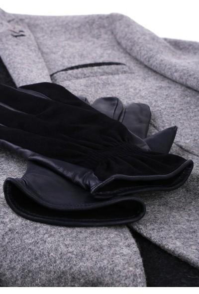 Kravatkolik Siyah Erkek Deri Süet Eldiven EL22