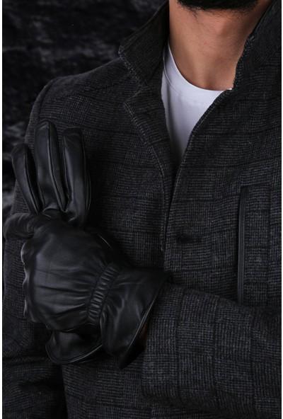 Kravatkolik Siyah Erkek Deri Eldiven EL16