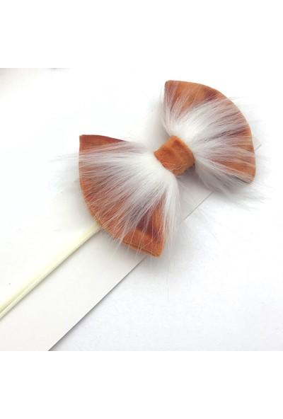 Pampiki Safety Turuncu Kadife Saç Bandı