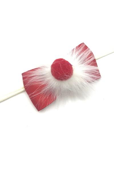 Pampiki Kırmızı Ponponlu Yeni Yıl Saç Bandı