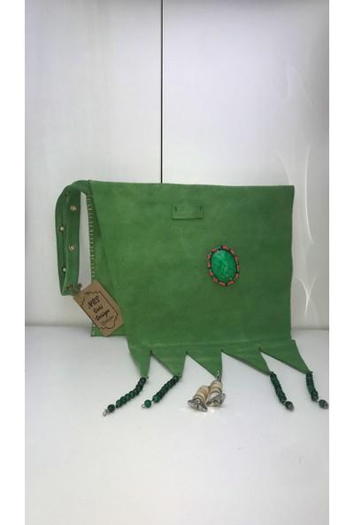 Nbs Deri Yeşil Portföy El Çantası