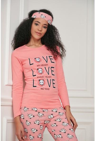 Morpile Kadın Baskılı Pijama Takımı