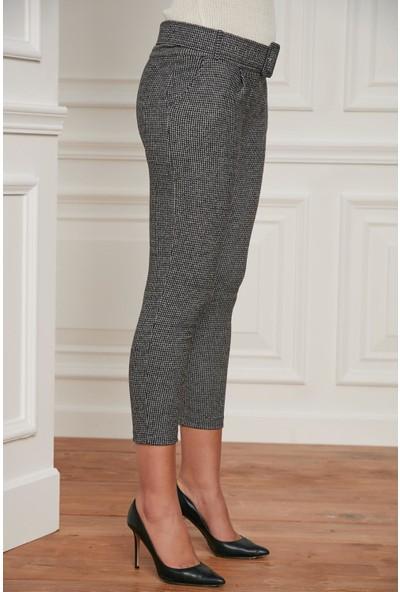Morpile Kadın Ekose Desen Pantolon