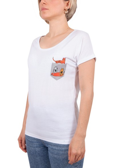 Biggdesign Cepte Kedi T-Shirt S
