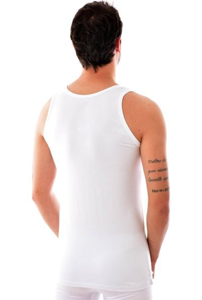 Tutku Elit 3 Adet Elit 1201 Erkek Modal Elasthan Atlet Beyaz