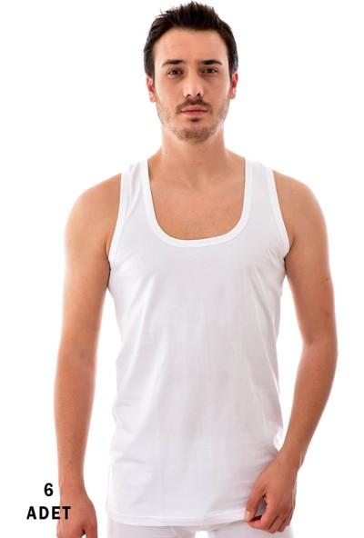 Tutku 6 Adet Erkek Penye Atlet Beyaz 0101