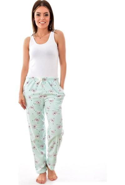 Kadın Desenli Welsoft Polar Pijama Altı