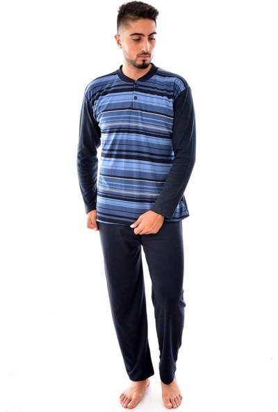 Pemilo Erkek Uzun Kol Ringelli Pijama Takımı