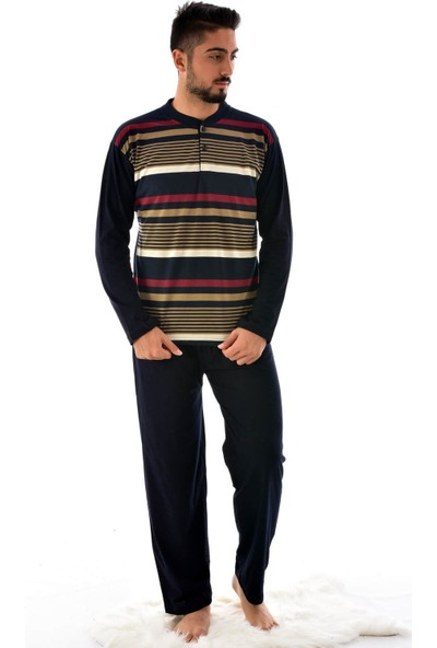 Rimoli Erkek Uzun Kol Süprem Pijama Takımı