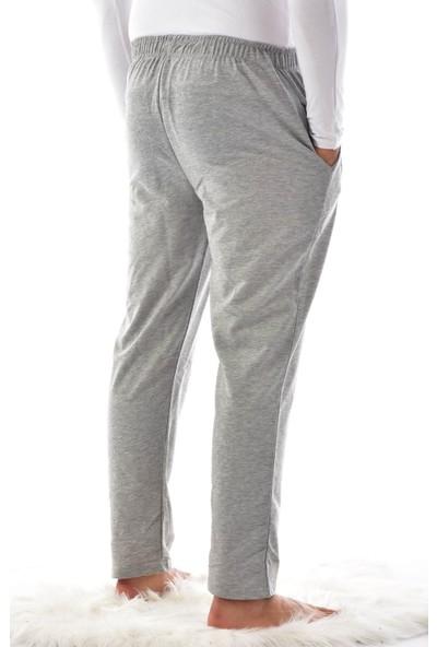 Pijaman Erkek Gri Cepli Pijama Altı