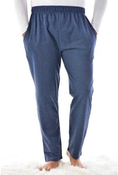 Pijaman Erkek Mavi Cepli Pijama Altı