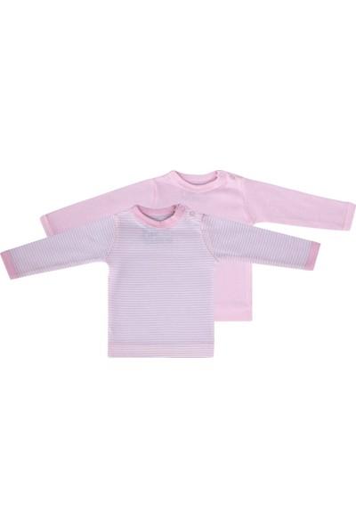 Uygun Bebe 2 li Bebek Uzun Kollu T-Shirt Yenidoğan