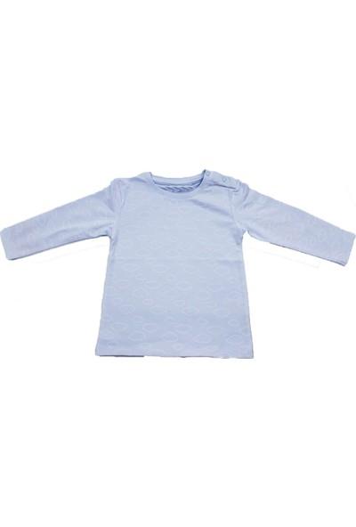Uygun Bebe Bulut Desenli Unisex Uzun Kollu Bebek T-Shirt