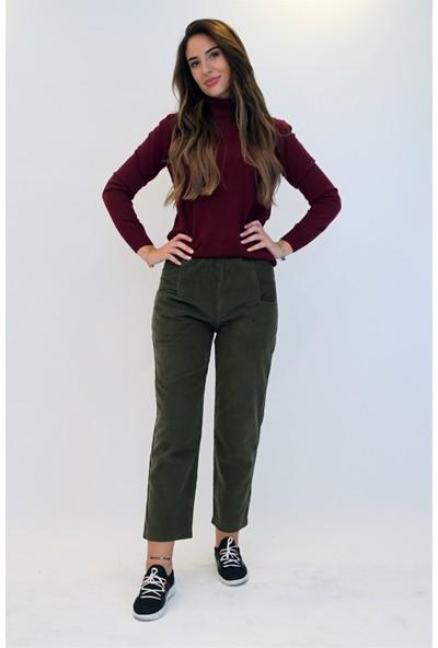 Anitabella Yeşil Kadife Pantolon 36