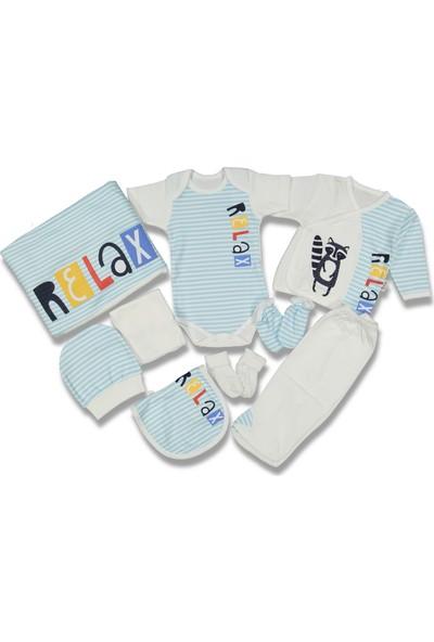 Liakids Bebe Relax Baskı 10'lu Hastane Çıkışı Mavi