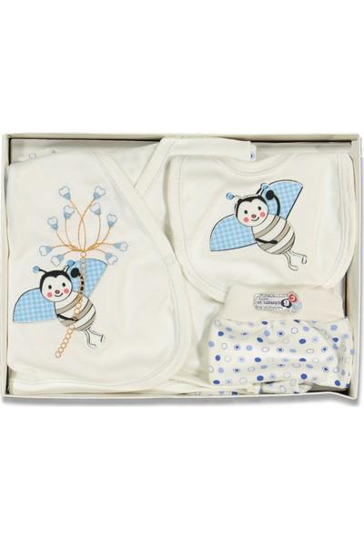 Liakids Bebe 5'li Uğur Böceği Zıbın Set Mavi