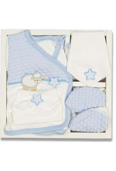 Liakids Bebe 5'li Kuzulu Nohutlu Kuzulu Zıbın S Mavi