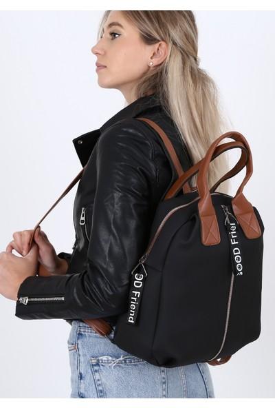 Çanta Sanatı Esta Kadın Sırt Çantası Siyah My050