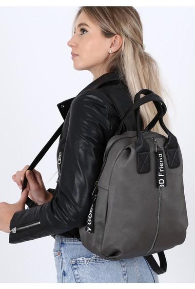 Çanta Sanatı Esta Kadın Sırt Çantası Gri My050