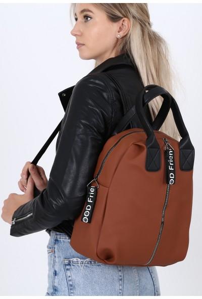Çanta Sanatı Esta Kadın Sırt Çantası Taba My050