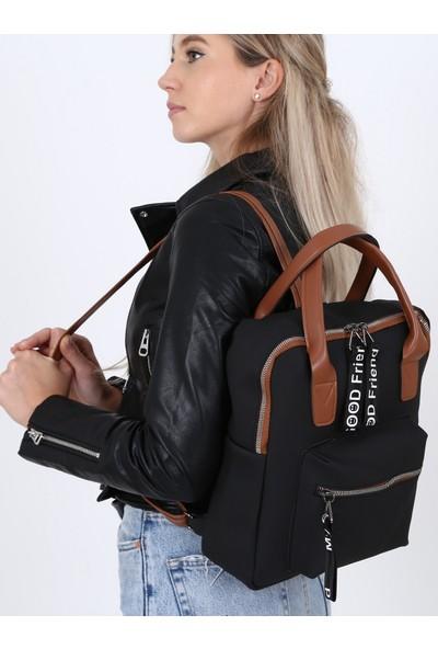 Çanta Sanatı Sofia Kadın Sırt Çantası Siyah My049