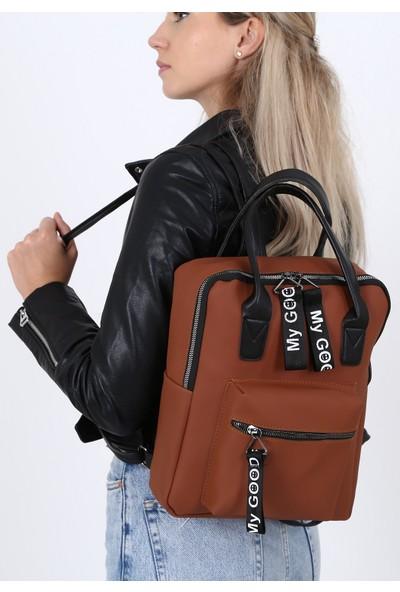 Çanta Sanatı Sofia Kadın Sırt Çantası Taba My049