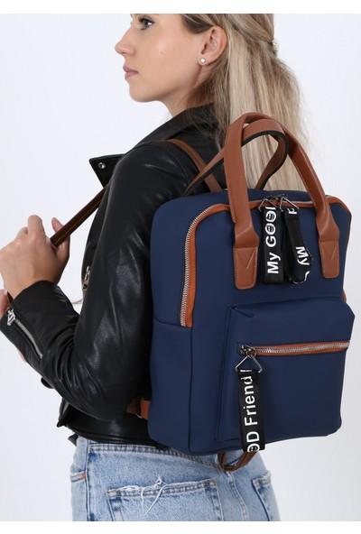 Çanta Sanatı Sofia Kadın Sırt Çantası Lacivert My049