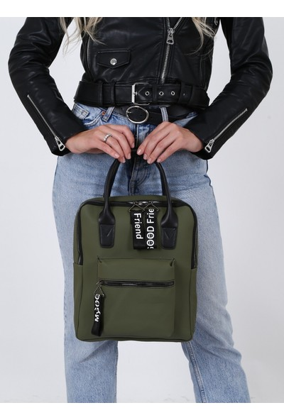 Çanta Sanatı Sofia Kadın Sırt Çantası Yeşil My049