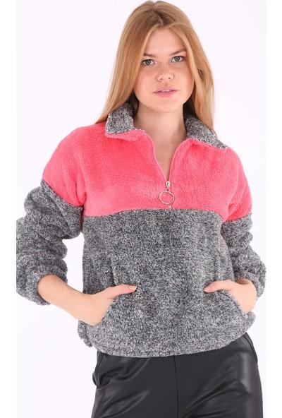 Bigdart 55303 Kanguru Cep Yakalı Polar Sweatshirt