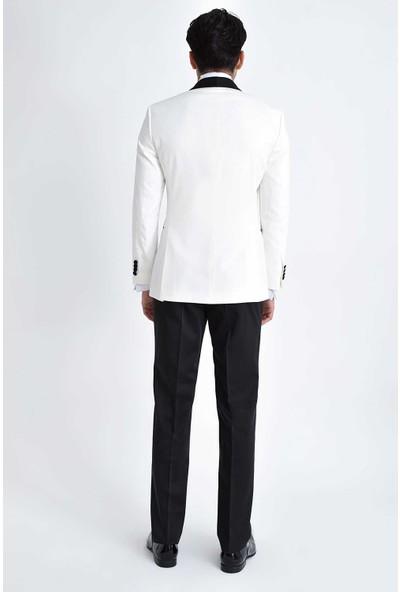 Hatemoğlu Erkek Beyaz Cerimonia Slim Fit Takım Elbise
