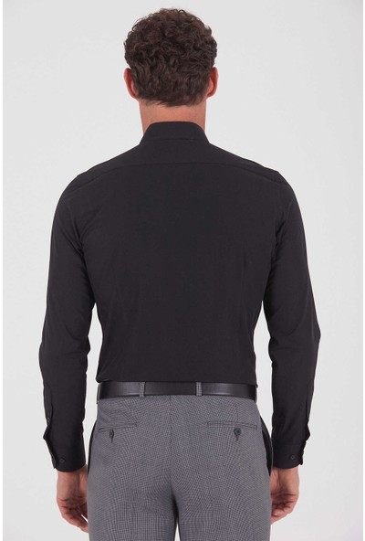 Hatemoğlu Erkek Siyah Slim Fit Gömlek